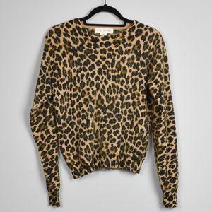 Leopard Print Lambswool/Angora Sweater